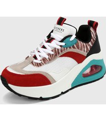 tenis lifestyle blanco-multicolor skechers street uno hi - wildly high