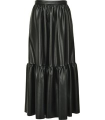 pinko tiered zip-up skirt - black