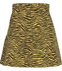 adornare kort kjol gul max&co.