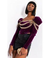 akira majestic lyfe chain corset top