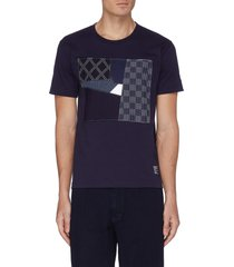 boro square patchwork t-shirt