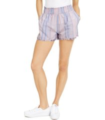 derek heart juniors' striped smocked-waist shorts