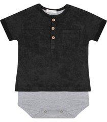 body jouer camiseta preto