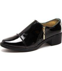 zapato para dama tellenzi granada charol negro