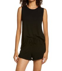women's bp. nori shorts pajamas, size xx-small - black