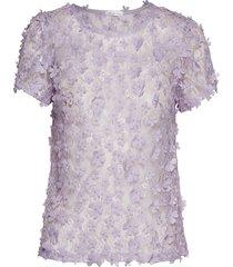 biscotti top blouses short-sleeved paars ida sjöstedt