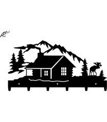 dom w górach wieszak na ubrania dekoracja prezent