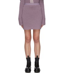 rib knit pencil skirt