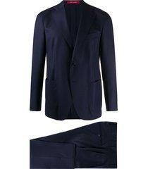 bagnoli sartoria napoli navy wool suit set - blue