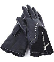 guantes cierre negro humana