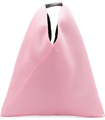 mm6 maison margiela mesh detail tote bag - pink