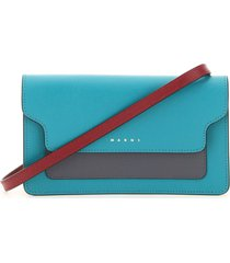 marni multicolor mini bag wallet with shoulder strap
