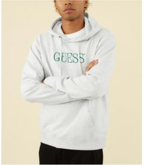 guess men's originals fleece logo hoodie