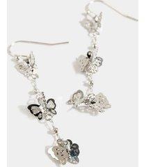 aalia butterfly linear earrings - silver