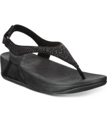 fitflop skylar crystal toe-thong sandals women's shoes