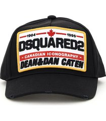 dsquared2 baseball cap logo patch