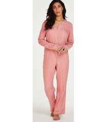 hunkemöller tall stickade pyjamasbyxor rosa