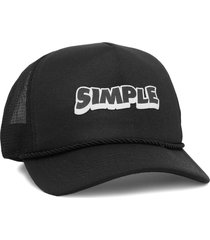 boné simple skateboard trucker ripple preto