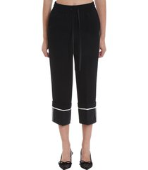 red valentino pants in black viscose