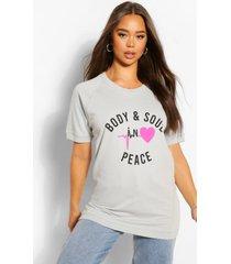 body & soul t-shirt, grijs