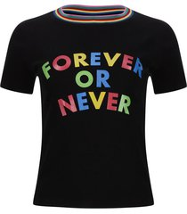 camiseta screen letras color negro, talla 16