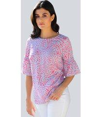 blouse alba moda blauw::koraal