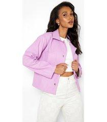 korte nepleren jas, lilac