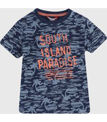 camiseta azul-naranja boboli