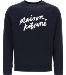 maison kitsuné sweatshirt with logo print