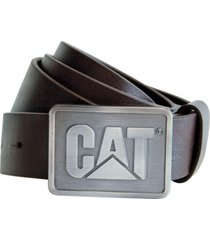 cinturon hombre shields belt chocolate cat