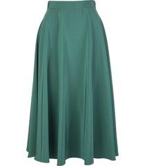gianluca capannolo green satin mid-length skirt