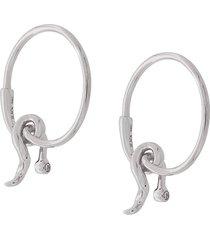 maria black 14kt gold diamond fall hoop earrings - silver
