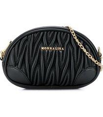 monnalisa oval shoulder bag - black