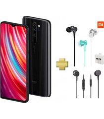 celular xiaomi redmi note 8 pro 64gb 6gb ram mineral grey negro + audifonos xiaomi original
