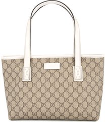 gucci pre-owned gg pattern hand tote bag - neutrals