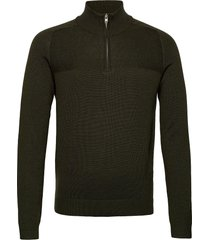 bs pivert knitwear half zip jumpers grön bruun & stengade