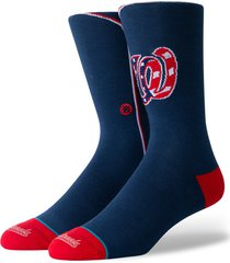 men's stance washington nationals crew socks, size large - blue