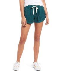 women's billabong 'road trippin' shorts, size large - blue/green