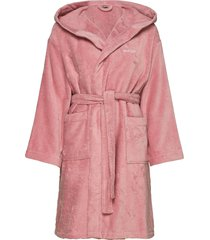 light velour robe ochtendjas badjas roze gant