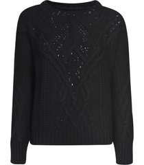 ermanno scervino knitted ribbed sweater