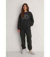 na-kd trend ekologiska mjuka sweatpants - grey