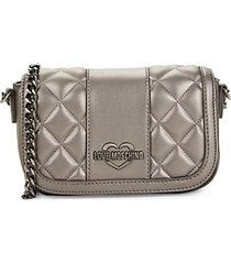 borsa quilted faux leather crossbody bag