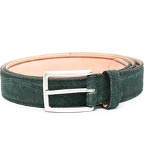 etro abstract-pattern belt - green