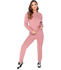cable knit long sleeve top & legging lounge set