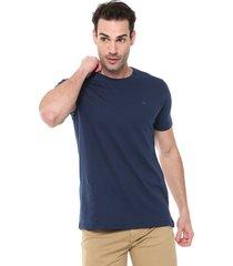 camiseta colombo logo azul - azul - masculino - algodã£o - dafiti