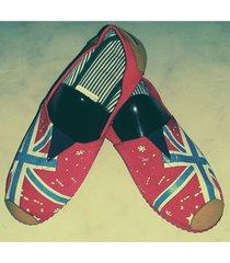 zapatillas boweipeiqi con bandera roja