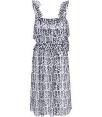 kenzo midi ruffled dress