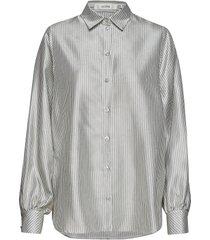 amelia shirt so19 blouse lange mouwen grijs gestuz