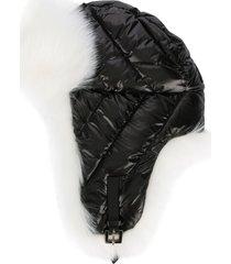 woolrich padded aviator hat - black