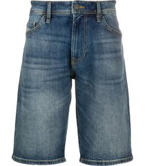 diesel straight-leg denim shorts - blue